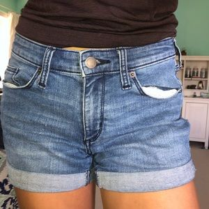 Rolled Up Jean Shorts